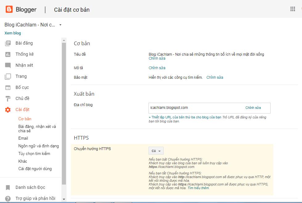 Mục cài đặt của Blog rất quan trọng với SEO