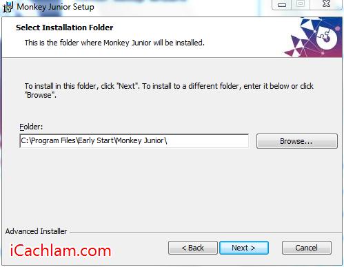 Chọn thư mục lưu File cài đặt