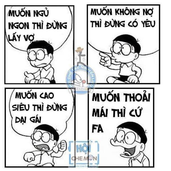 Nobita phát biểu về tình yêu