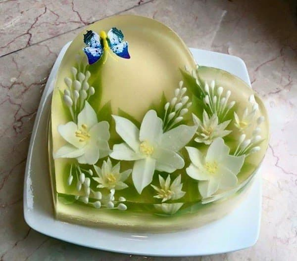 Bánh sinh nhật rau câu 3d