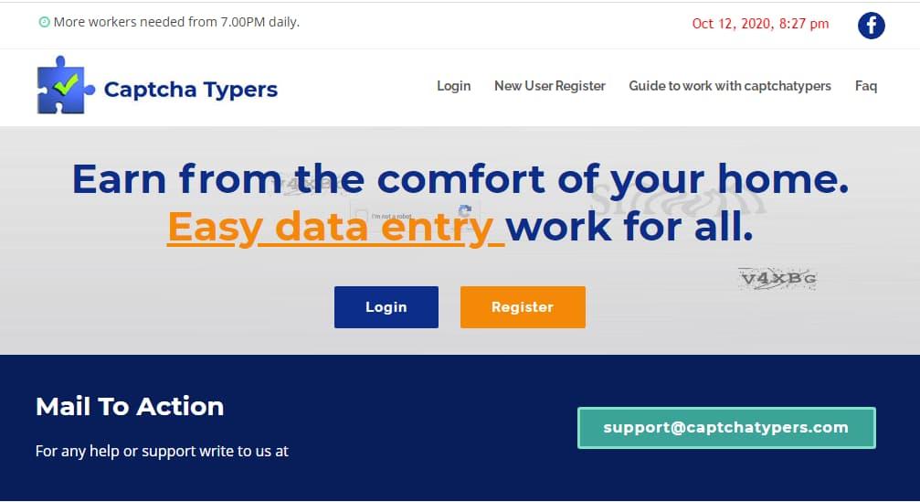 Kiếm tiền online với Captcha Typers