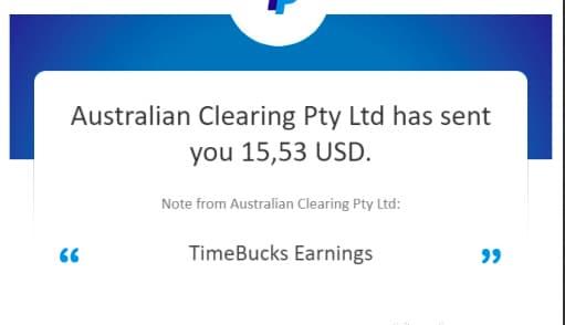 Bằng chứng rút tiền Timebucks