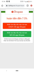 Mở App Shopee